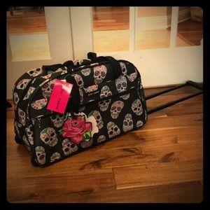 Betsey Johnson Sugar Skull Travel Bag